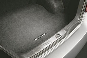 Carpeted Trunk Mat W/ Maxima Logo. Trunk Mat image for your Nissan